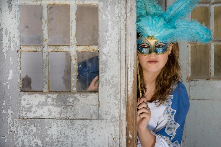 Dorien met masker 2  Vrij